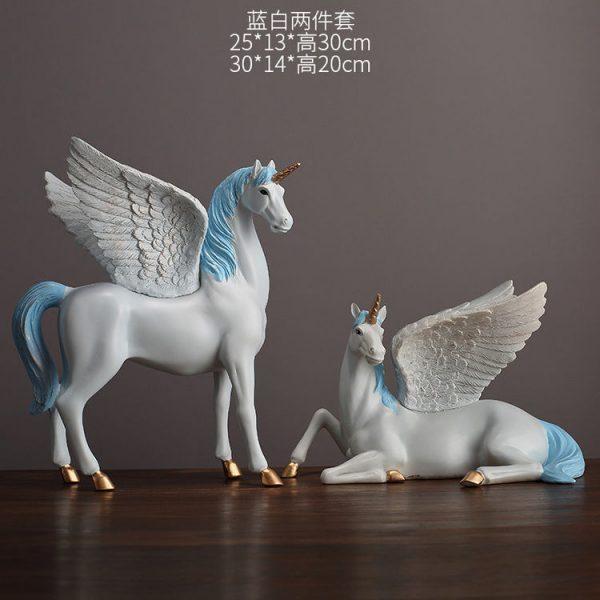 1JA28004 Unicorn Statues Figurines Table Decoration (22)