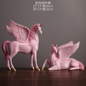 1JA28004 Unicorn Statues Figurines Table Decoration (23)