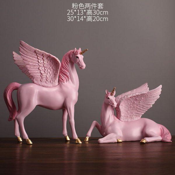 1JA28004 Unicorn Statues Figurines Table Decoration (23)