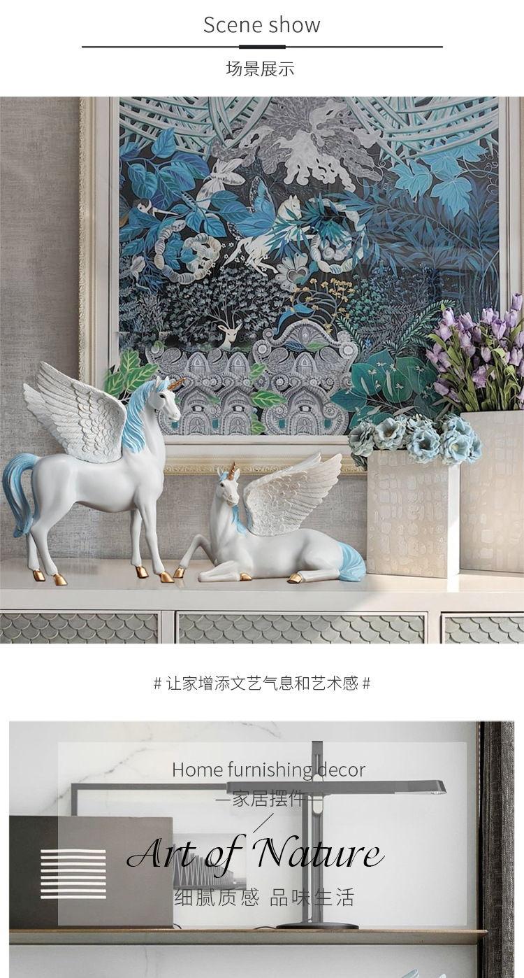 1JA28004 Unicorn Statues Figurines Table Decoration (3)