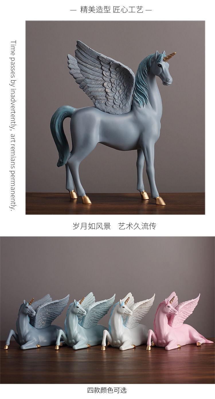 1JA28004 Unicorn Statues Figurines Table Decoration (5)
