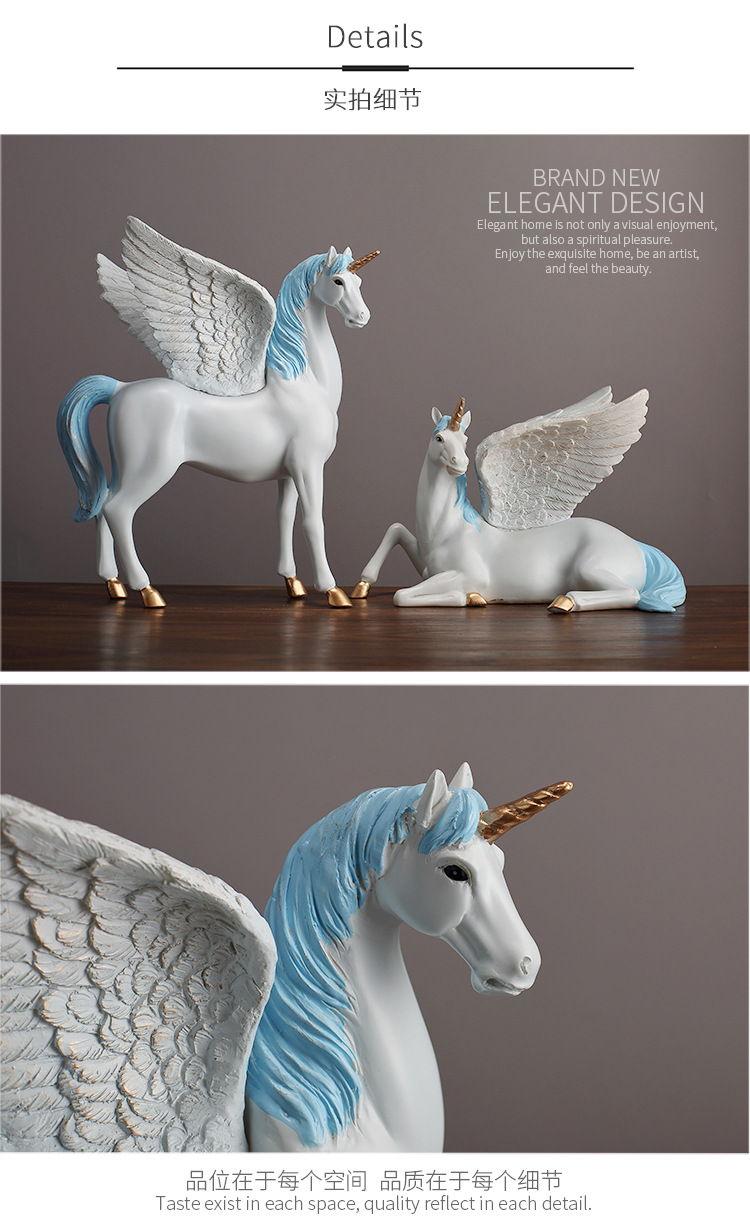 1JA28004 Unicorn Statues Figurines Table Decoration (7)