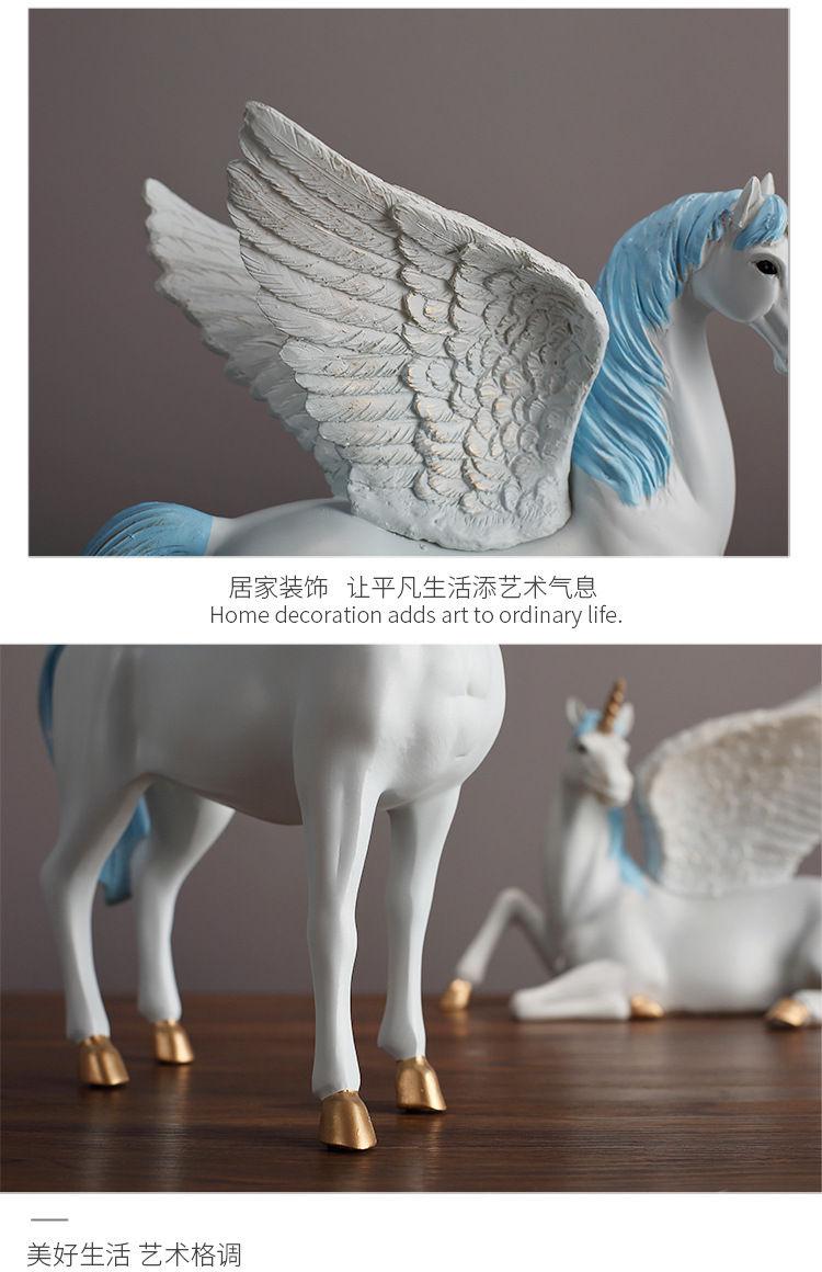 1JA28004 Unicorn Statues Figurines Table Decoration (8)