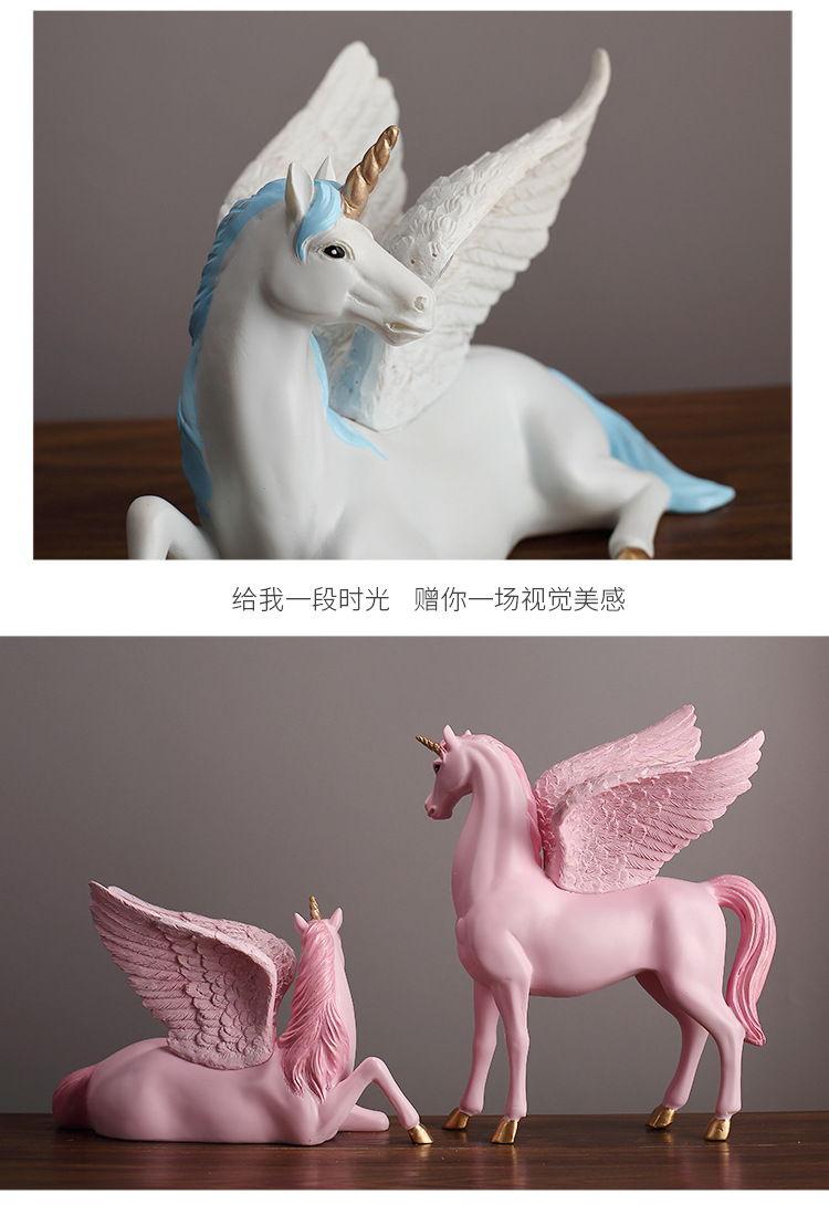 1JA28004 Unicorn Statues Figurines Table Decoration (9)