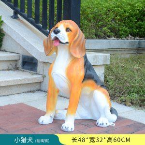 Beagle Garden Statue Fiberglass Resin