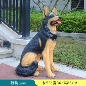 1JC16001 German Shepherd Yard Statue