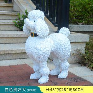 1JC16001 White Poodle Statue Sale