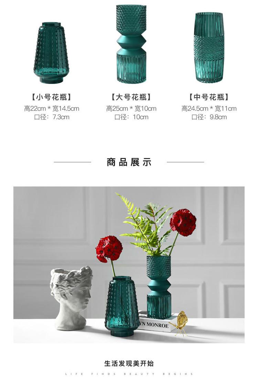 1JC21016 vase en verre en gros (16)