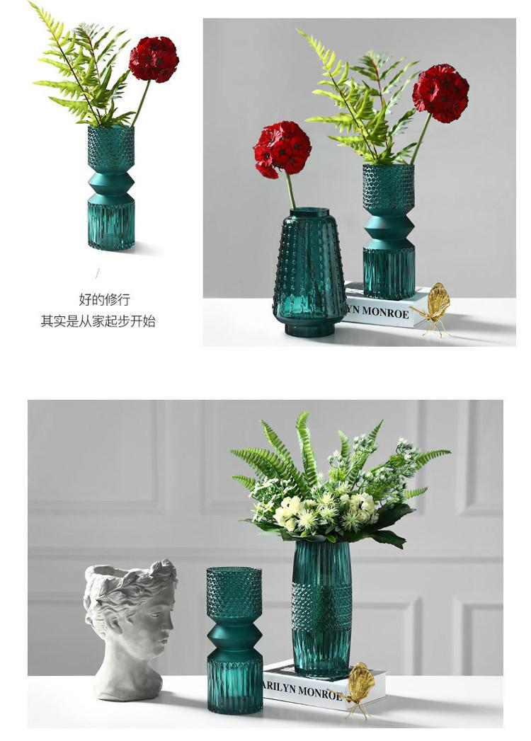1JC21016 vase en verre en gros (17)