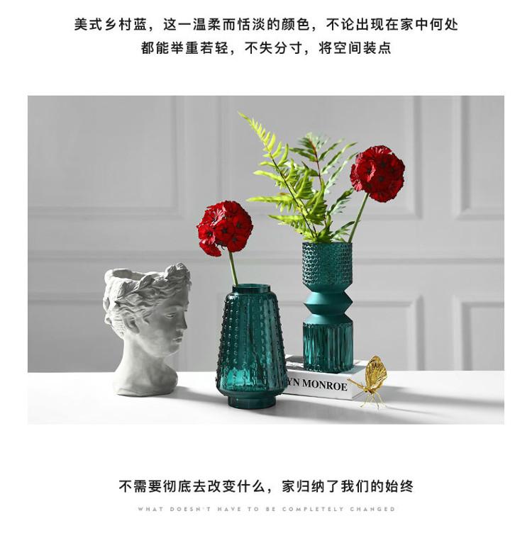 1JC21016 vase en verre en gros (18)