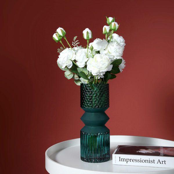 1JC21016 vase en verre en gros (2)