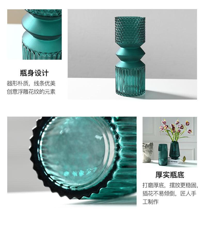 1JC21016 vase en verre en gros (21)