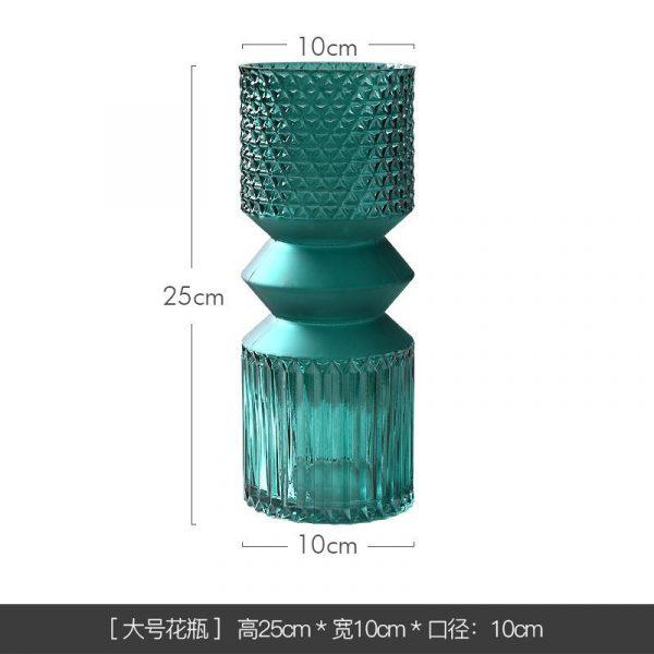 1JC21016 vase en verre en gros (23)