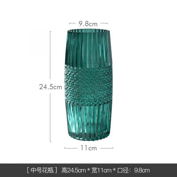1JC21016 vase en verre en gros (24)