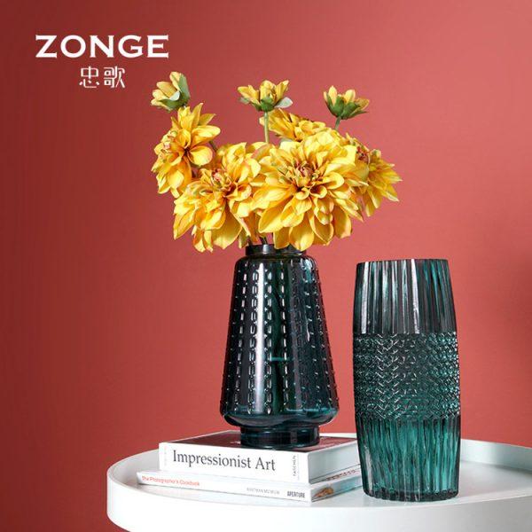 1JC21016 vase en verre en gros (4)