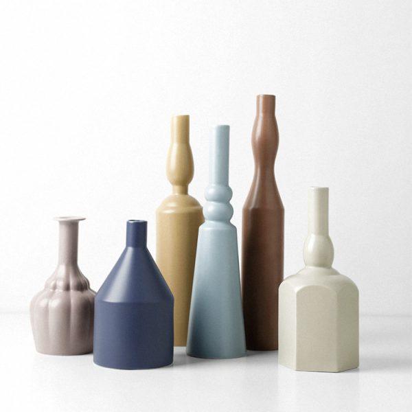 1JC21023 Morandi Vase Ceramic Home Decoration (1)