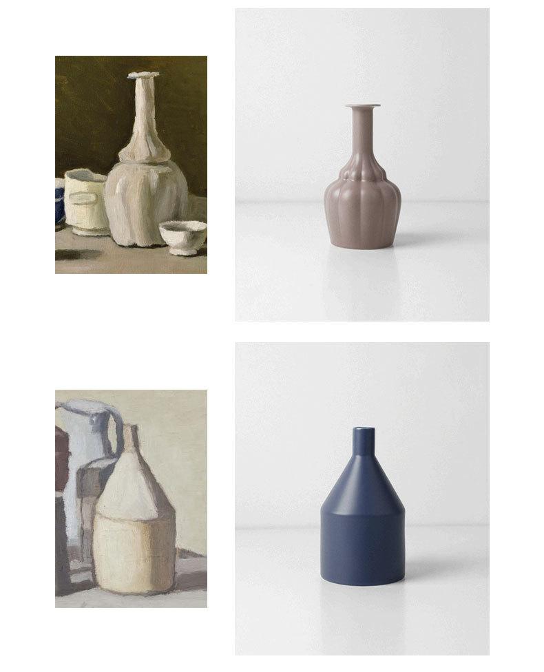 1JC21023 Morandi Vase Ceramic Home Decoration (10)
