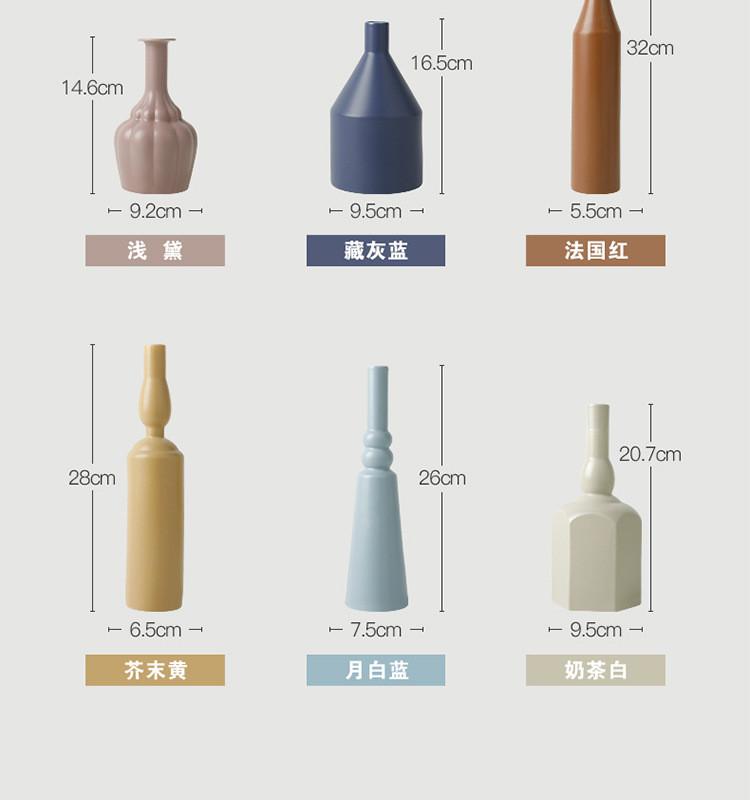 1JC21023 Morandi Vase Ceramic Home Decoration (13)