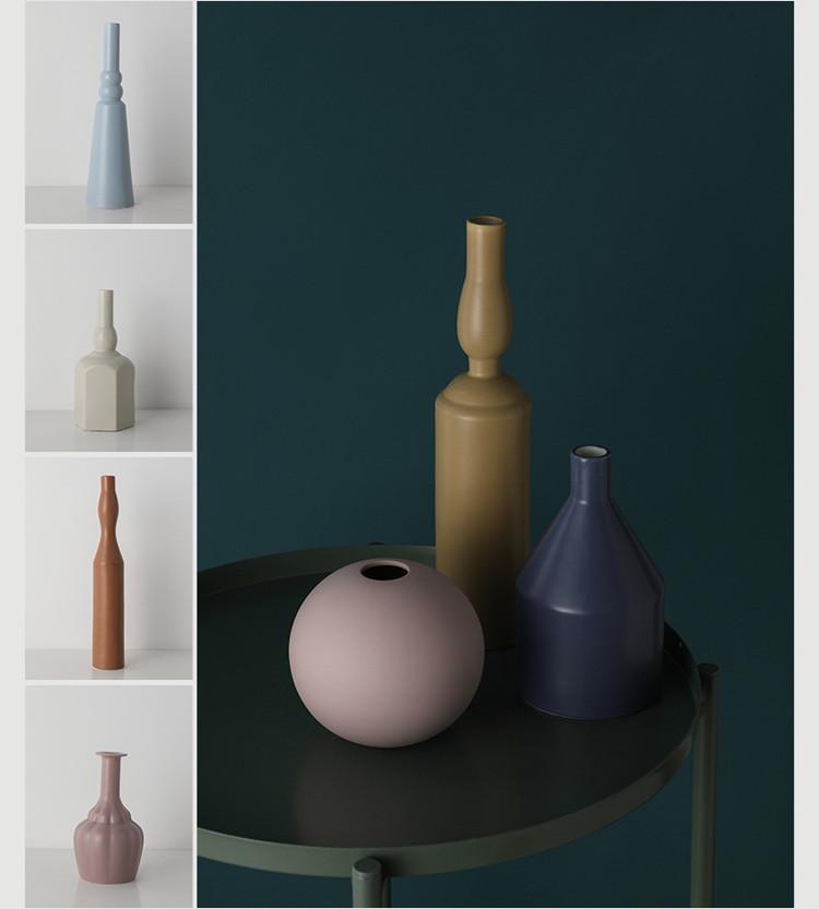 1JC21023 Morandi Vase Ceramic Home Decoration (15)