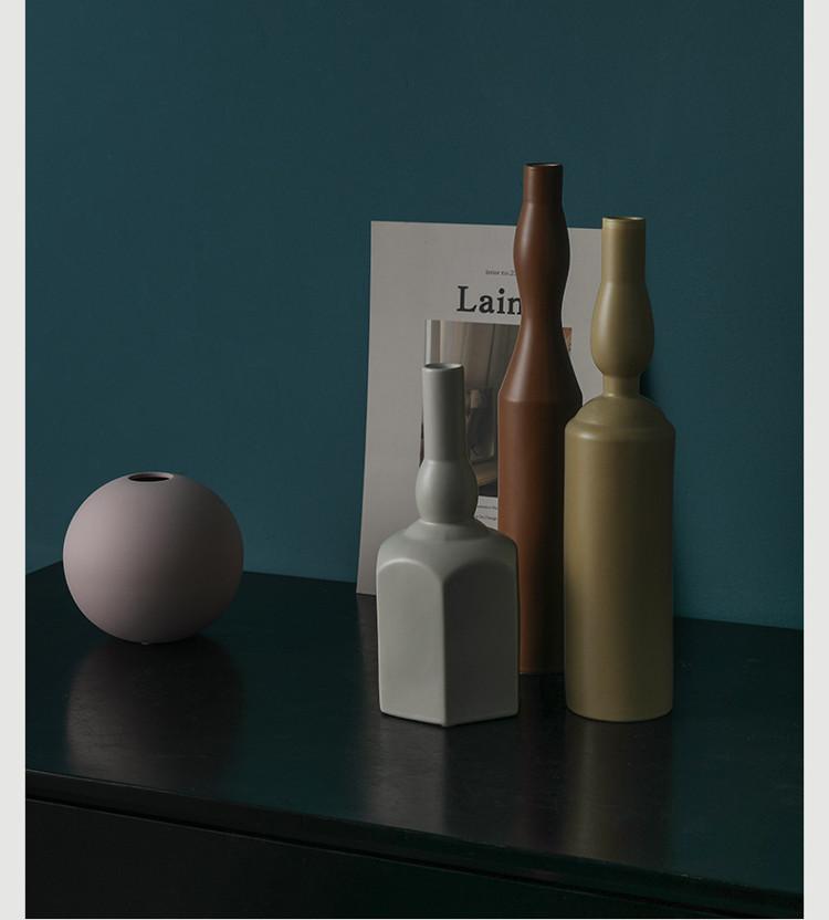 1JC21023 Morandi Vase Ceramic Home Decoration (16)