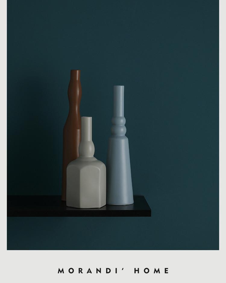 1JC21023 Morandi Vase Ceramic Home Decoration (17)
