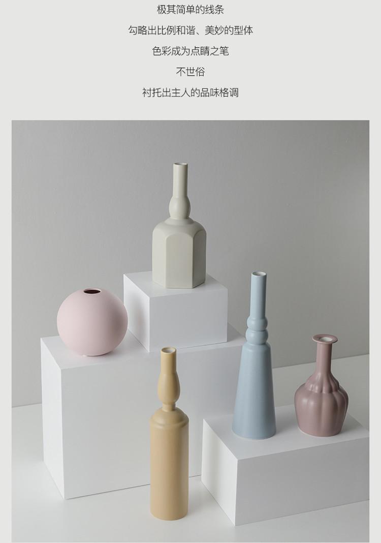 1JC21023 Morandi Vase Ceramic Home Decoration (18)