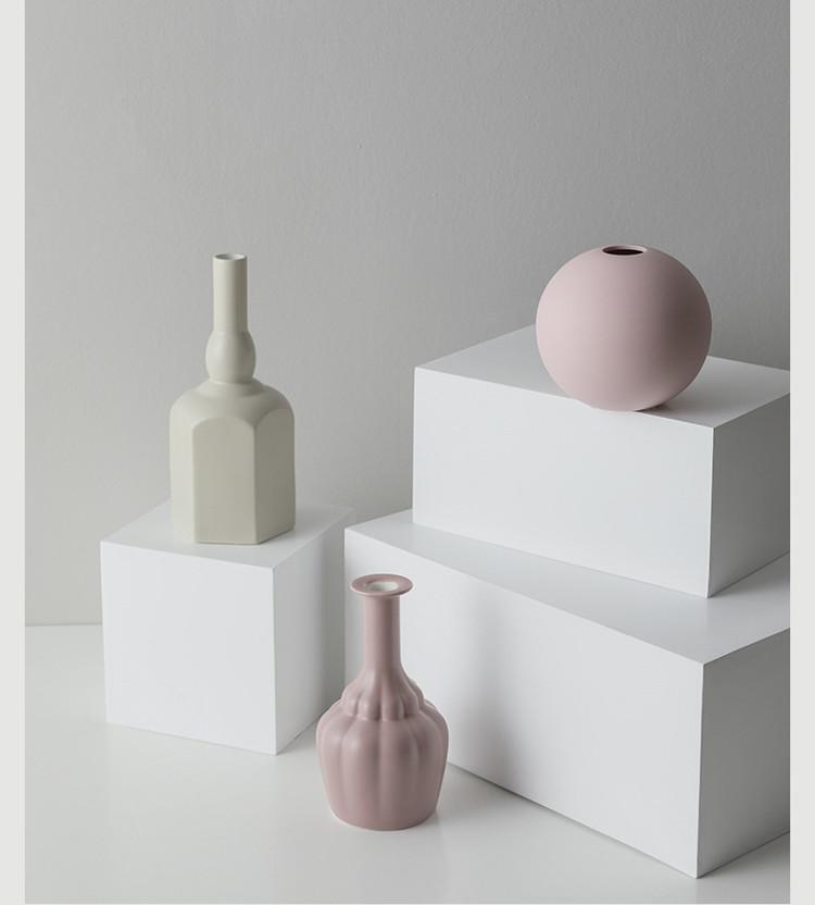 1JC21023 Morandi Vase Ceramic Home Decoration (19)