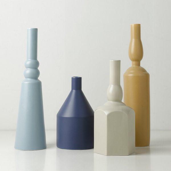 1JC21023 Morandi Vase Ceramic Home Decoration (2)
