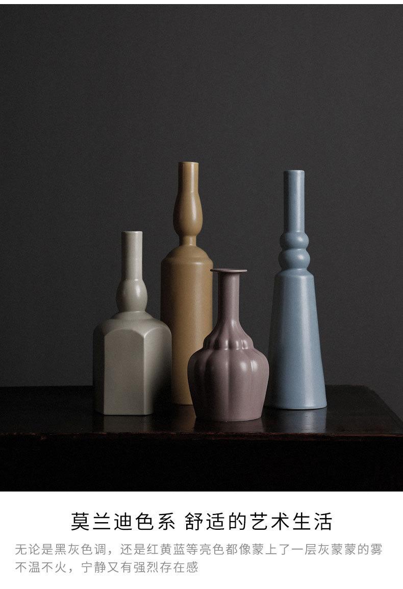 1JC21023 Morandi Vase Ceramic Home Decoration (20)