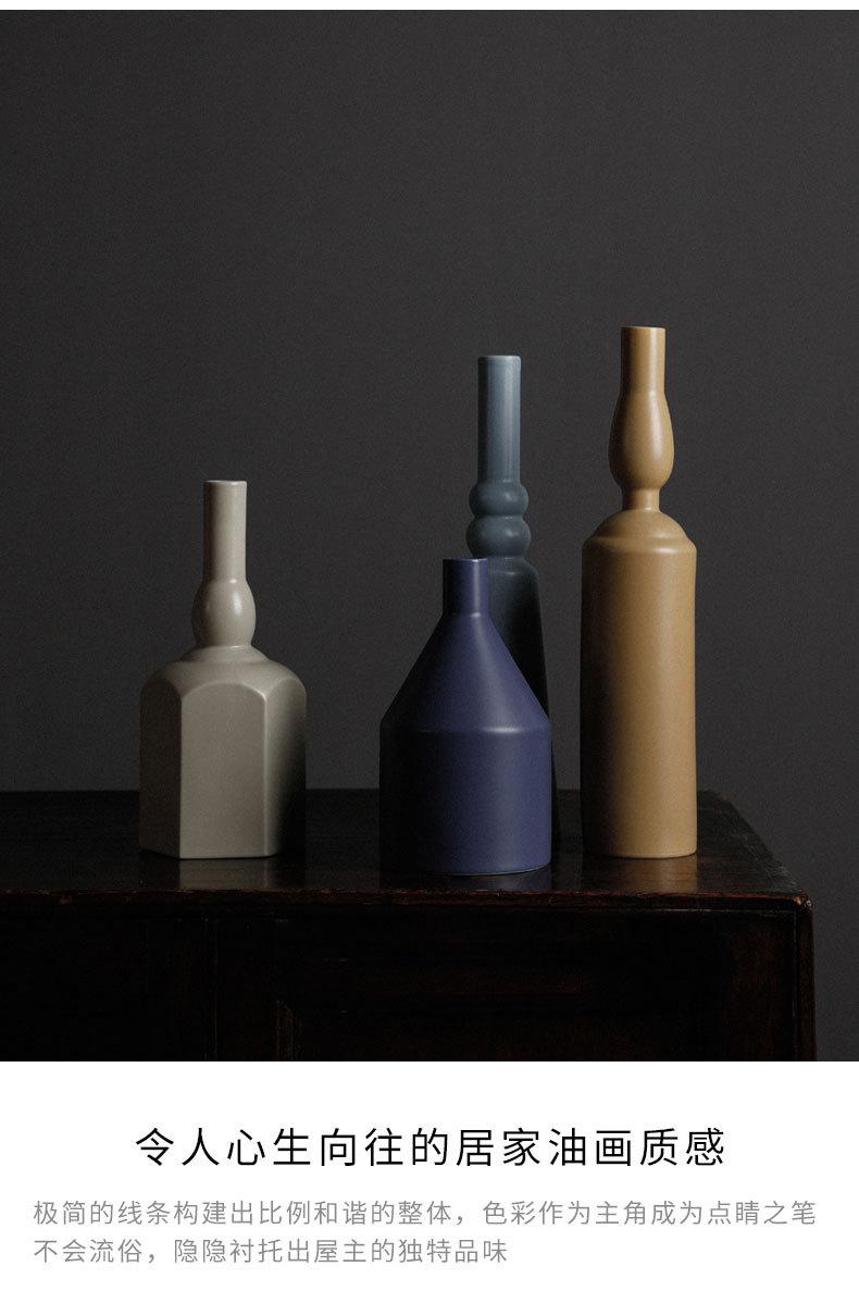 1JC21023 Morandi Vase Ceramic Home Decoration (21)