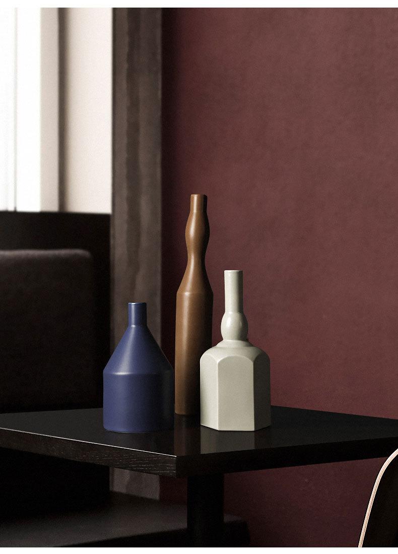 1JC21023 Morandi Vase Ceramic Home Decoration (22)