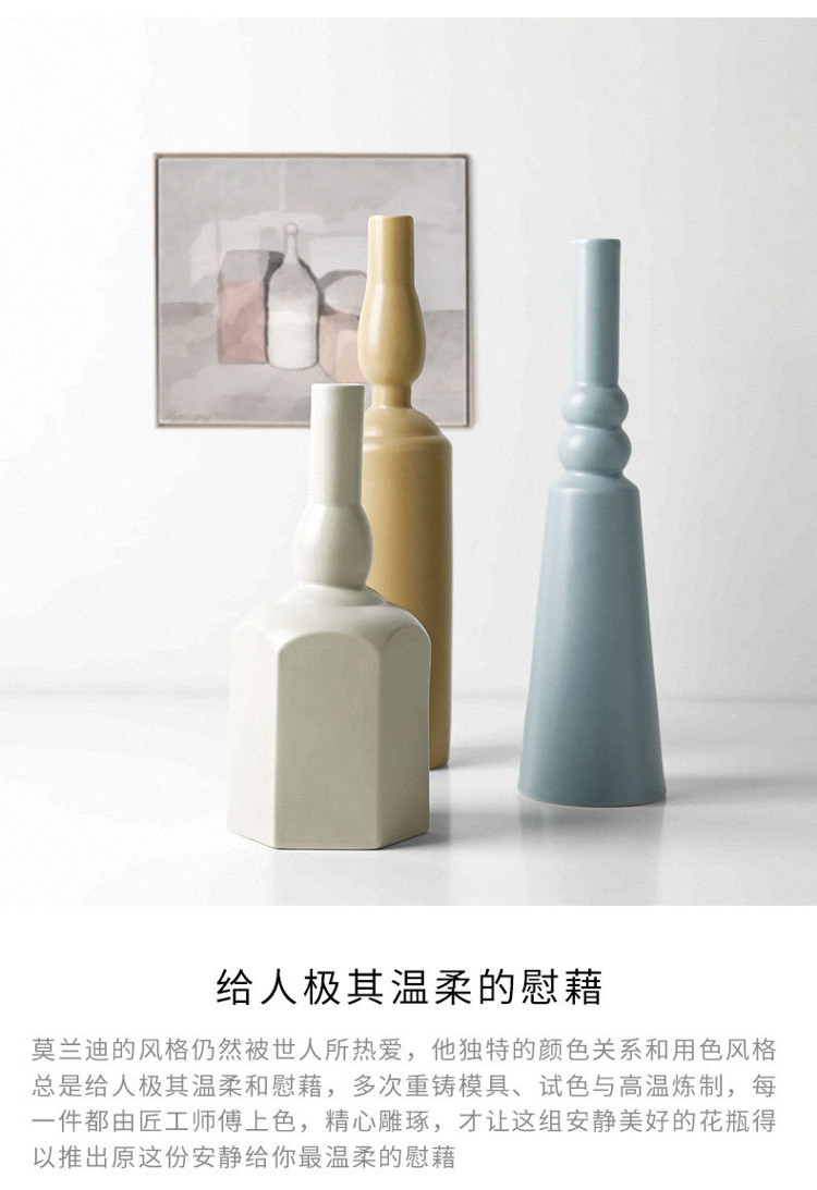 1JC21023 Morandi Vase Ceramic Home Decoration (23)