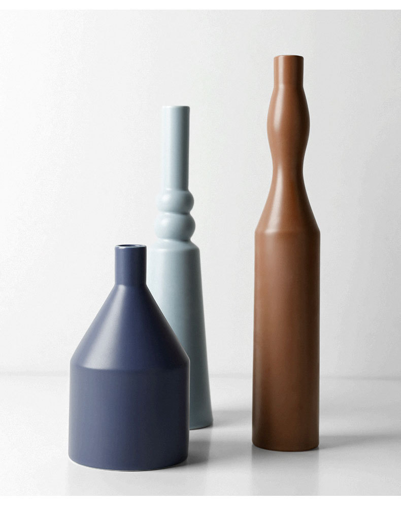 1JC21023 Morandi Vase Ceramic Home Decoration (24)