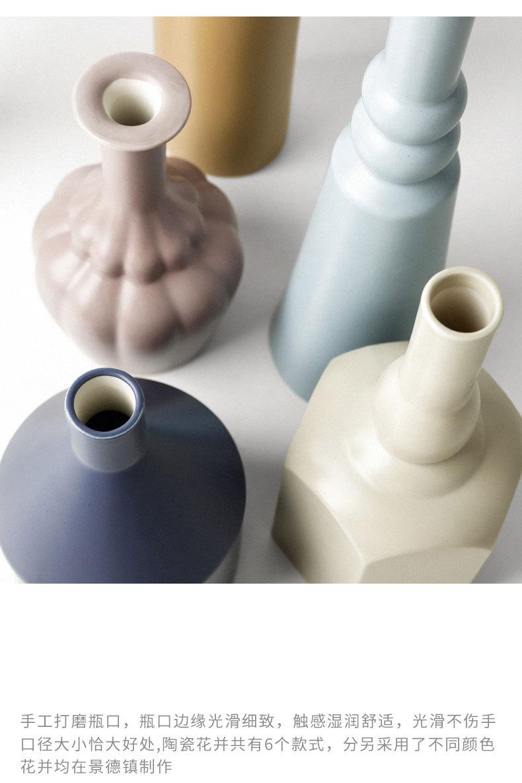 1JC21023 Morandi Vase Ceramic Home Decoration (26)