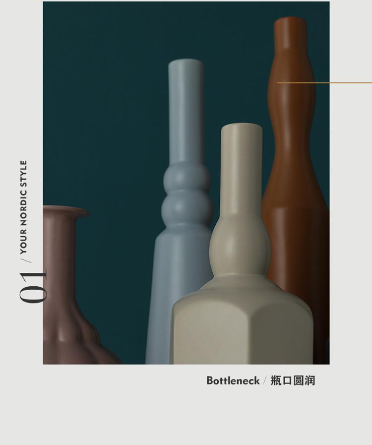 1JC21023 Morandi Vase Ceramic Home Decoration (27)
