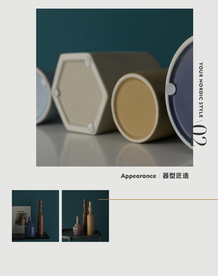 1JC21023 Morandi Vase Ceramic Home Decoration (28)