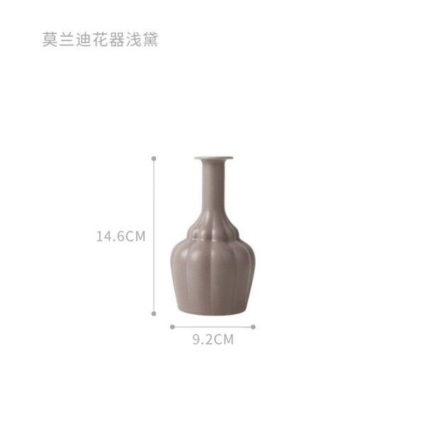 1JC21023 Morandi Vase Ceramic Home Decoration (32)