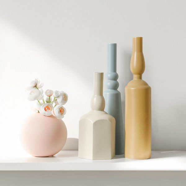 1JC21023 Morandi Vase Ceramic Home Decoration (4)