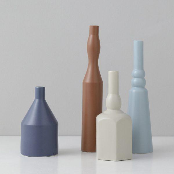 1JC21023 Morandi Vase Ceramic Home Decoration (5)