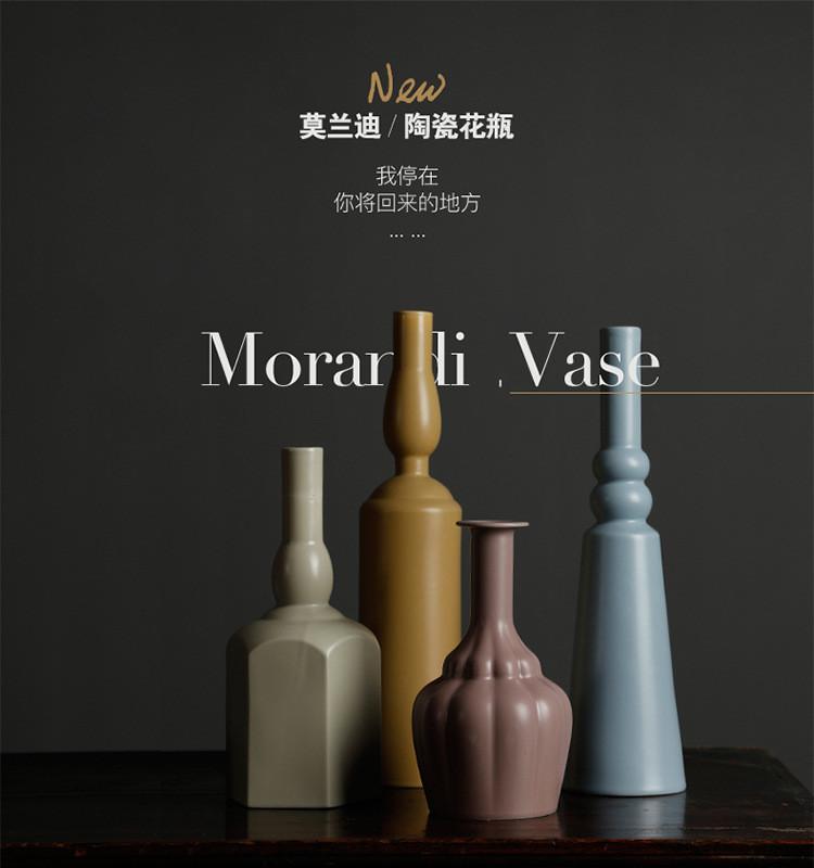 1JC21023 Morandi Vase Ceramic Home Decoration (6)
