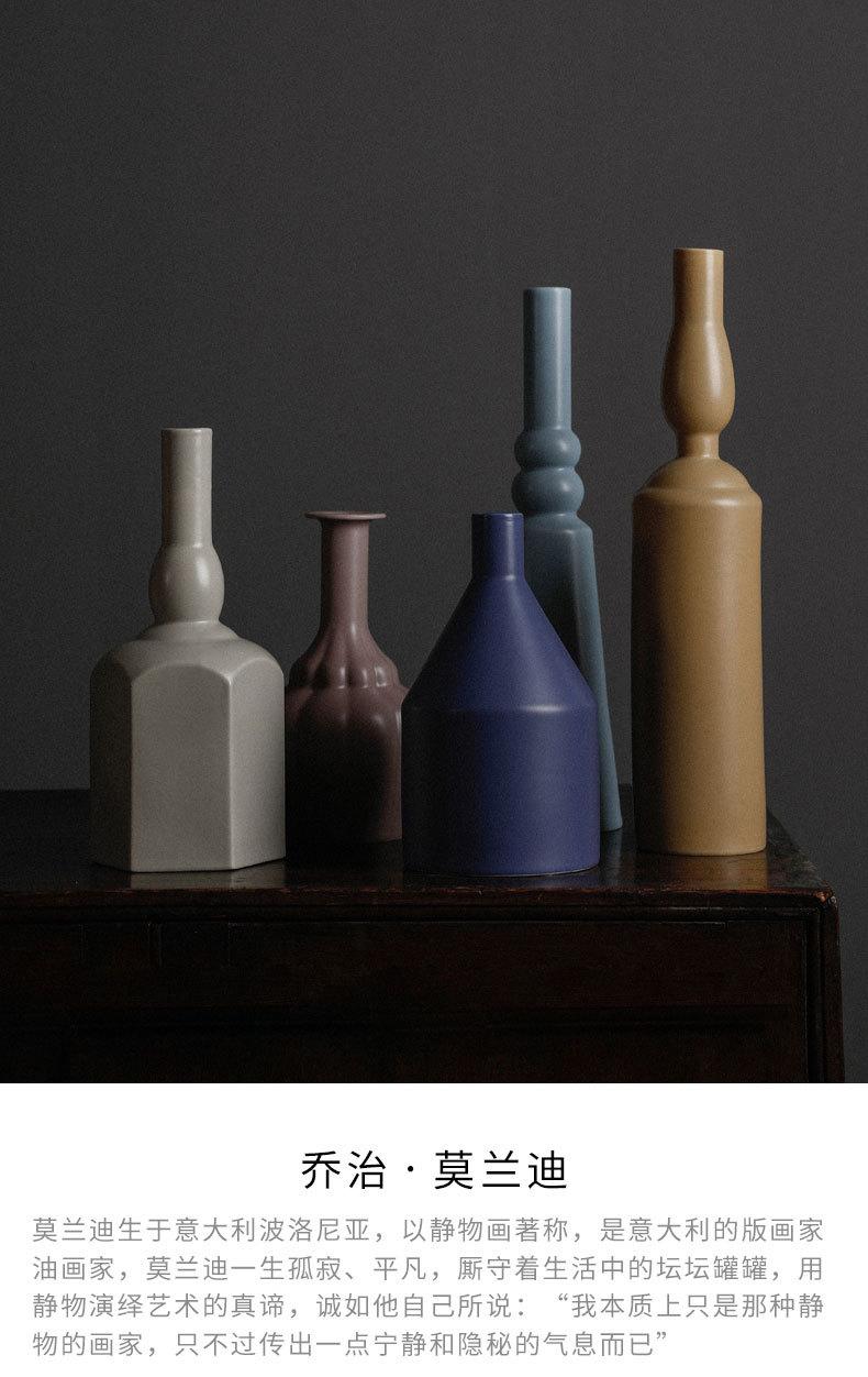 1JC21023 Morandi Vase Ceramic Home Decoration (8)