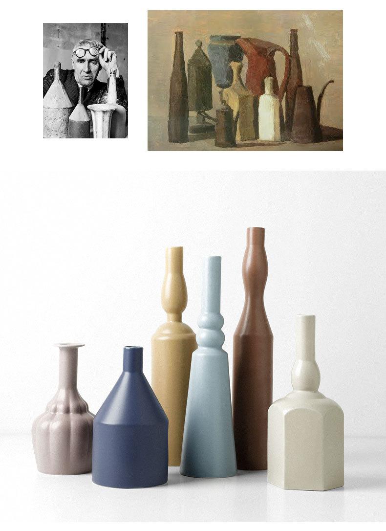 1JC21023 Morandi Vase Ceramic Home Decoration (9)