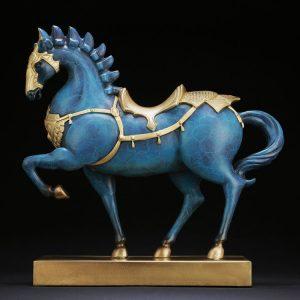 1I904033 Brass Horse Ornament General Horse (10)