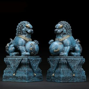 1I904034 Chinese Lion Statues For Sale