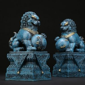 1I904034 Chinese Guardian Lion Statue (23)