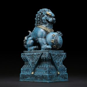 1I904034 Chinese Guardian Lion Statue (24)
