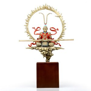 1I904050 Song Wukong Statue Brass (15)