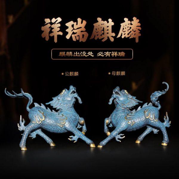 1I904053 Kirin Qilin-Statue Feng Shui (25)