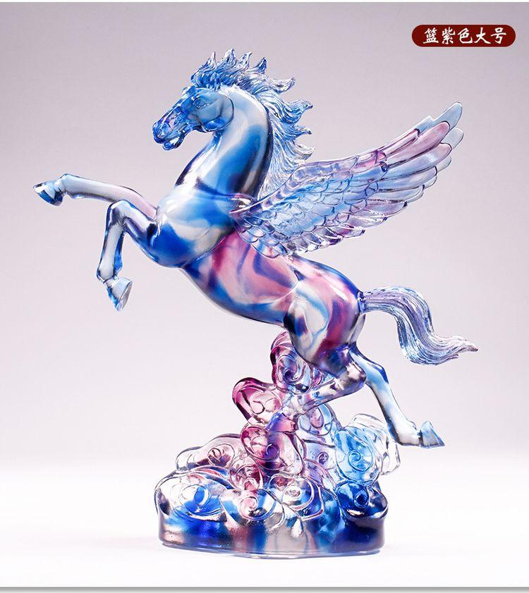 1JB03007 Crystal Horse Statue Liuli Sale (10)