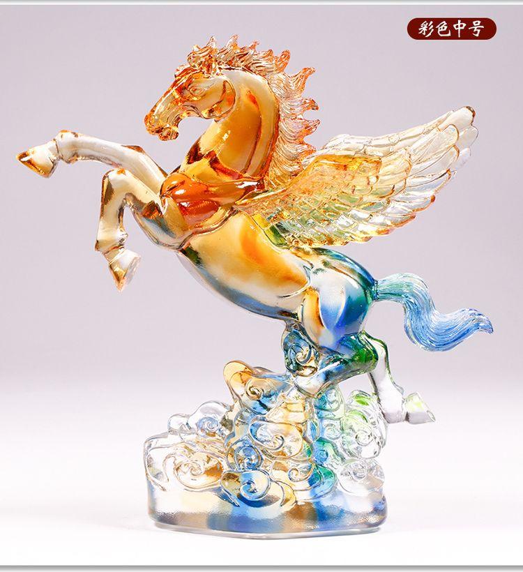 1JB03007 Crystal Horse Statue Liuli Sale (12)